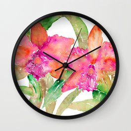 ORCHID LOVE Wall Clock