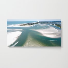 Rich's Inlet at the North End of Figure 8 Island | Wilmington NC Metal Print