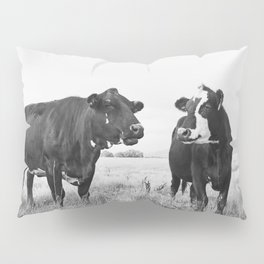Cattle Photograph in Black and White Pillow Sham