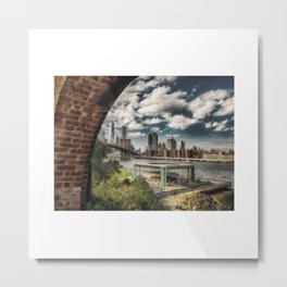 Booklyn Bridge Metal Print