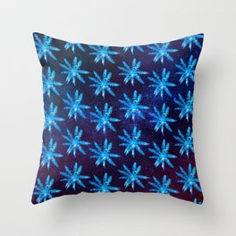 Twilight Spikey Plant Throw Pillow