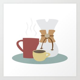 Coffee (Pour Over) Art Print