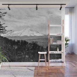 Mount Shasta, and neighboring mountain Shastina, Siskiyou County, ca.1900-1940 Wall Mural