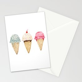 Sweet Ice Cream Cones Stationery Cards