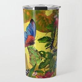 Tropical Butterfly Sunset Travel Mug