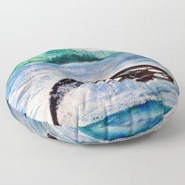 Whale watercolor Floor Pillow
