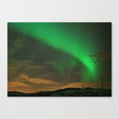 Northern Lights over Norway: Part 2 Canvas Print