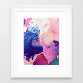 Saturday Night (Abstract Painting) Framed Art Print