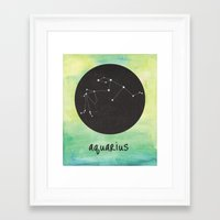 aquarius Framed Art Prints featuring Aquarius by snaticky