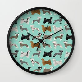 Chinese Crested dog breed variety of coats dog breed dog owner must have gifts for dog person Wall Clock