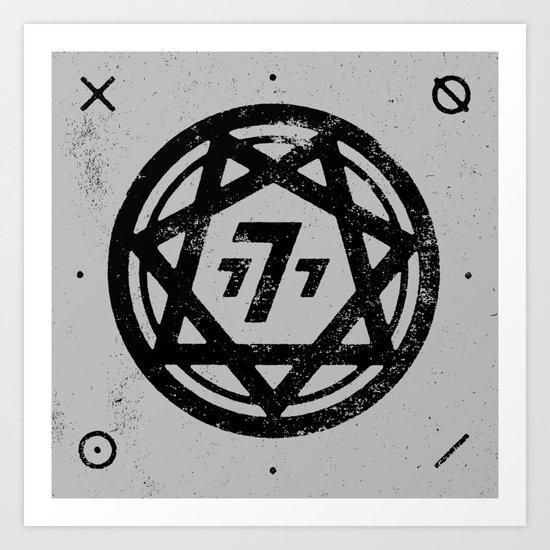 777 Art Print