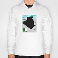 political Hoodies featuring political map of Algeria country with flag by tony tudor