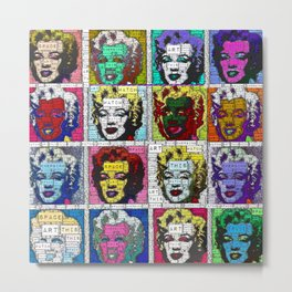 Watch This Space gallery - Signature Marilyn (Fame) Metal Print