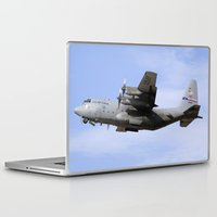 aviation Laptop & iPad Skins featuring USAF C-130 Aviation take off by Aviator