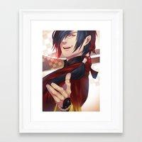 dramatical murder Framed Art Prints featuring DRAMAtical Murder: Koujaku by magemg