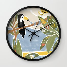 The Jungle Jumbos Wall Clock