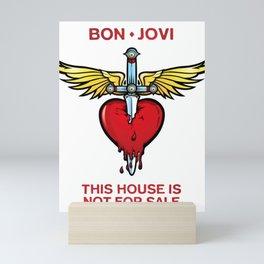 bon jovi this house not for sale logo putro Mini Art Print