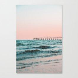 Beach Pier Sunrise Canvas Print