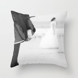 catch a wave and love Throw Pillow