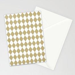 Diamonds (Sand/White) Stationery Cards