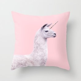 UNICORN LAMA Throw Pillow