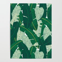 Classic Banana Leaves in Palm Springs Green Poster
