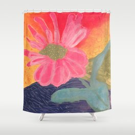 Mother's Day - Painting by young artist with Down syndrome Shower Curtain