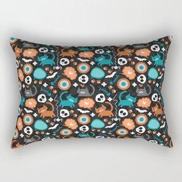 Funny Halloween pattern with kittens Rectangular Pillow