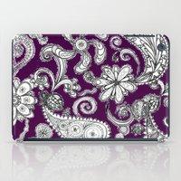 burgundy iPad Cases featuring Burgundy by Marcela Caraballo