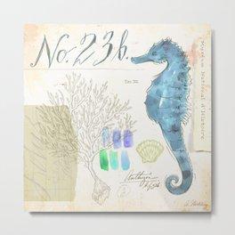 Watercolor Seahorse Metal Print