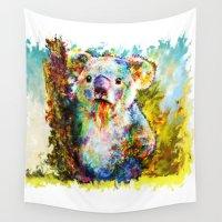 koala Wall Tapestries featuring Koala  by ururuty
