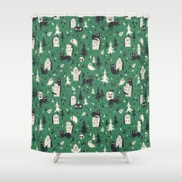 Cemetery Cuties (Green) Shower Curtain