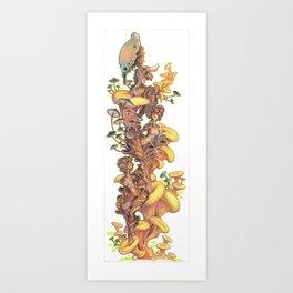 mushroom fairies Art Print