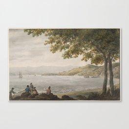 Pavel Petrovich Svinin, (1787 –1839), Shad Fishermen on the Shore of the Hudson River Canvas Print