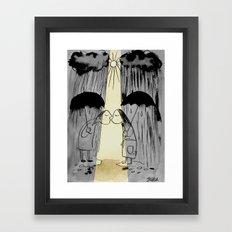 a little sunshine Framed Art Print