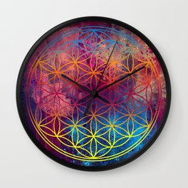 Flower of Life Wall Clock