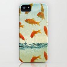 raining gold fish iPhone (5, 5s) Slim Case