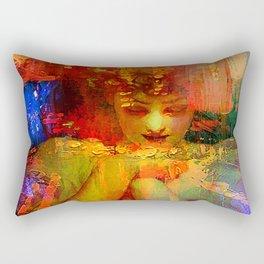 An angel in the city Rectangular Pillow