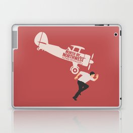 North by northwest, Alfred Hitchcock minimalist movie poster, thriller, Cary Grant, Eva Marie Saint Laptop & iPad Skin