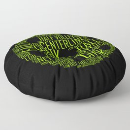 Pickleball Ball Art Words Floor Pillow