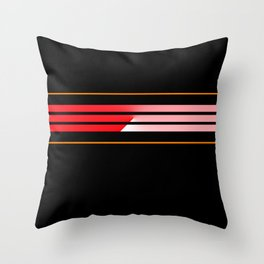 Team Colors 5 ...red.orange Throw Pillow