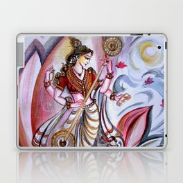 Musical Goddess Saraswati - Healing Art Laptop & iPad Skin