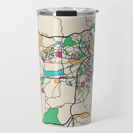 Colorful City Maps: Ankara, Turkey Travel Mug
