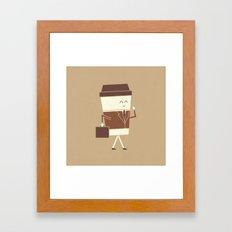 Off To Work Framed Art Print