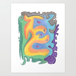 Drawing #129 Art Print