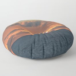 Heavenly Sunset Floor Pillow