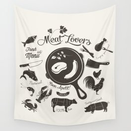 Meat Lovers Wall Tapestry