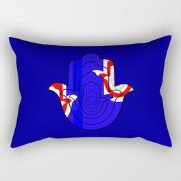 Pop Art Hamsa Hand Rectangular Pillow