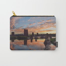 Panoramic River Sunset Carry-All Pouch