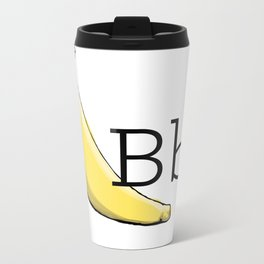 Fruit + Veggie Alphabet: Banana Metal Travel Mug